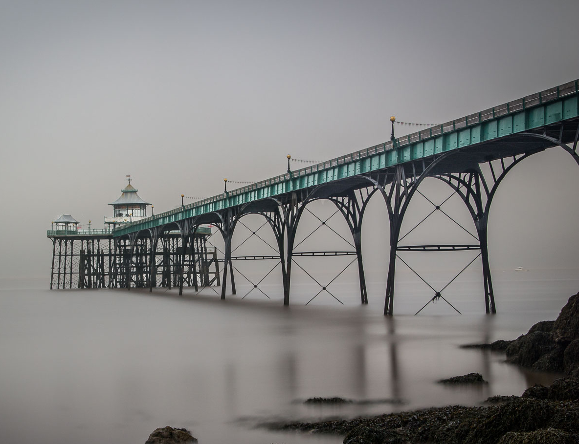 Clevedon pier in the mist
