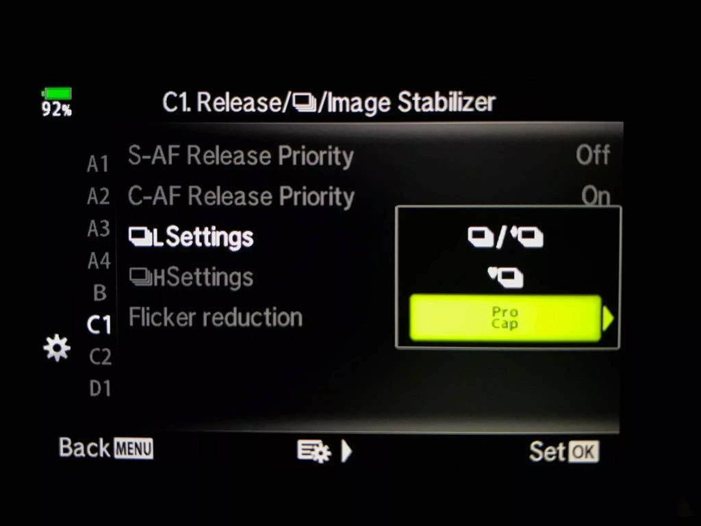 EM1x and firmware 2 with pro capture